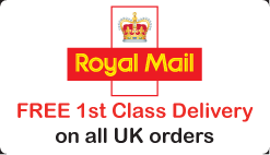 Free 1st class royal mail delivery on all UK orders